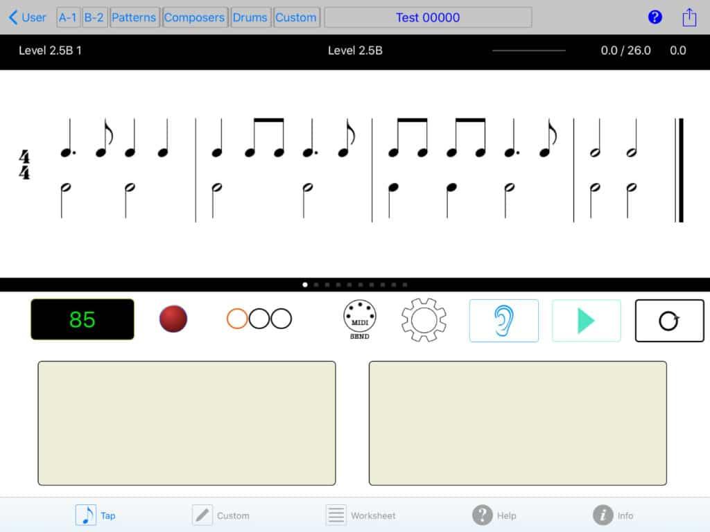 App RhythmLab Klavier lernen 1